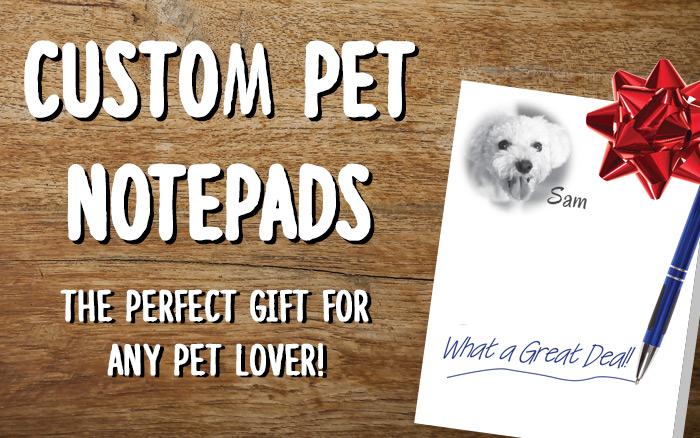 Custom Pet Notepads