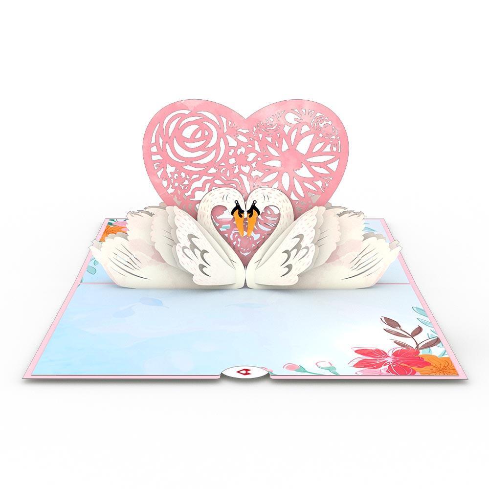 Swans 3D card