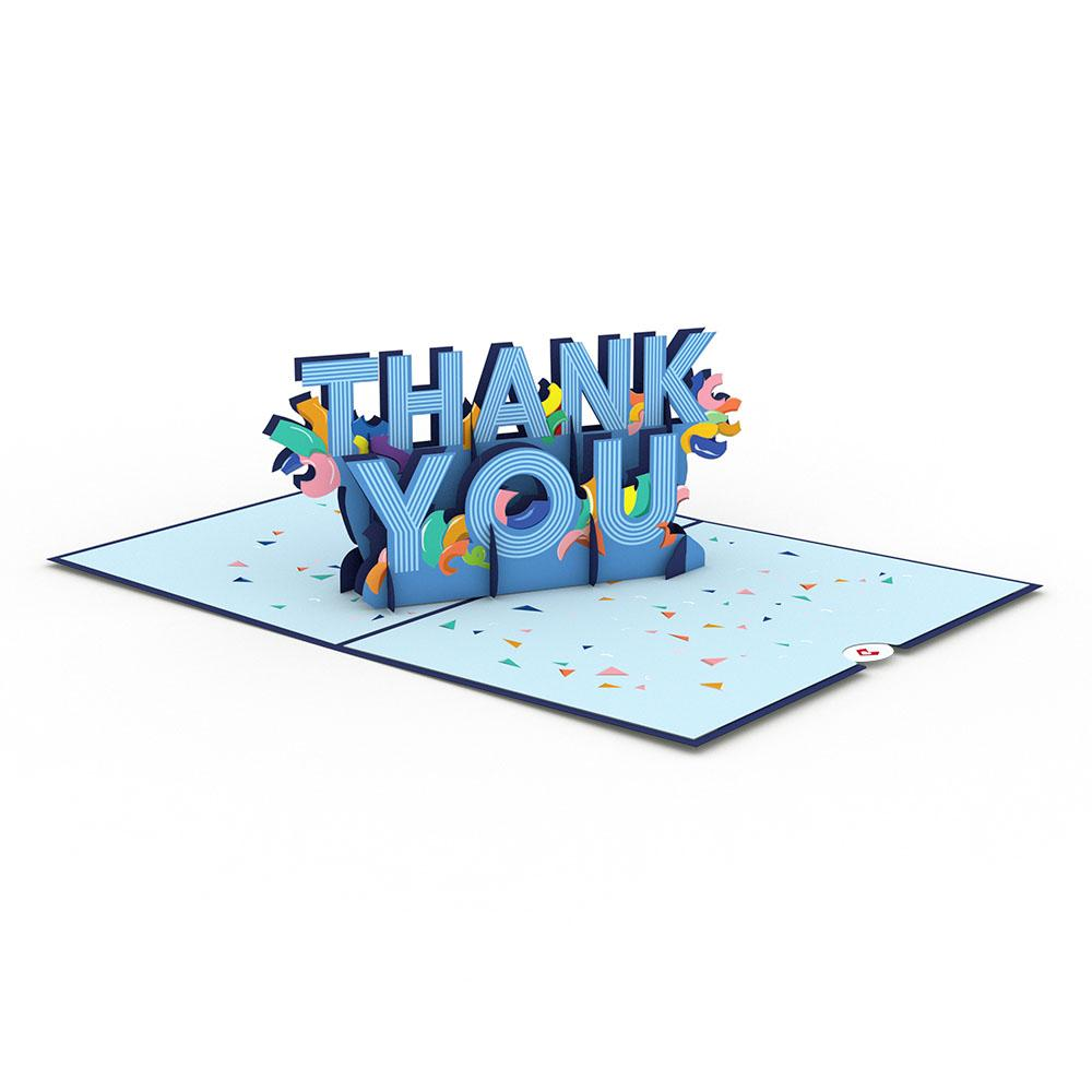 Confetti Thank You 3D card